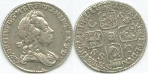 1 Sixpence / 6 Penny Kingdom of Great Britain (1707-1801) Silver George I (1660-1727)