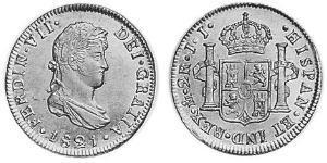2 Real Nouvelle-Espagne (1519 - 1821) Argent Ferdinand VII d