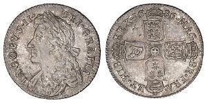 1 Шилінг Королівство Англія (927-1649,1660-1707) Срібло Яків II (1633-1701)