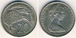 20 Cent Neuseeland Kupfer/Nickel