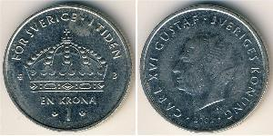 1 Крона Швеция Никель/Медь