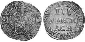 3 Marck Reichsstadt Aachen (1306 - 1801) Silber Ferdinand III, Holy Roman Emperor (1608-1657)
