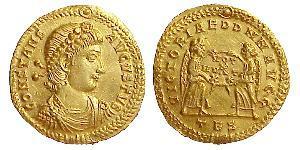 1 Solidus 拜占庭帝国 金 君士坦斯一世