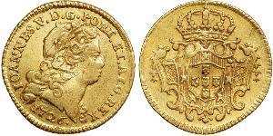 1/2 Escudo Royaume de Portugal (1139-1910) Or Jean V de Portugal (1689-1750)