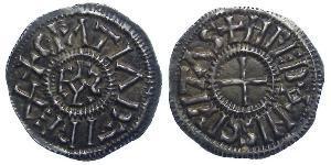 Dinaro Reino de Francia (843-1791) Plata Carlos el Calvo (823-877)