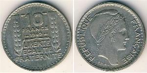 10 Франк French Fourth Republic  (1946-1958) Нікель/Мідь