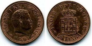 1/8 Tanga Portuguese India (1510-1961) Bronze