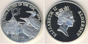 2 Pound Reino Unido (1922-) Plata Isabel II (1926-)