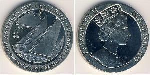 1 Krone Isla de Man Níquel/Cobre Isabel II (1926-)