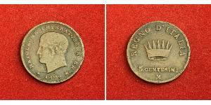3 Centesimo Kingdom of Italy (Napoleonic) (1805–1814) Copper Napoleon (1769 - 1821)