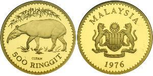 500 Ringgit Malaysia (1957 - ) Gold