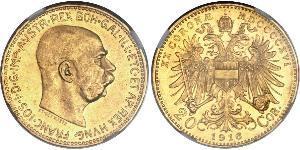 20 Corona Autriche-Hongrie (1867-1918) Or Franz Joseph I (1830 - 1916)
