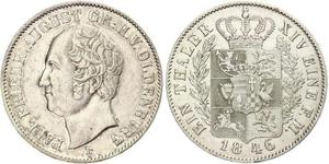 1 Thaler Grand Duchy of Oldenburg (1814 - 1918) Plata Augusto de Oldenburgo