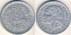 5 Franc Quatrième République (1946-1958) Aluminium