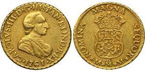 2 Escudo 新西班牙總督轄區 (1535 - 1821) 金 卡洛斯三世 (西班牙) (1716 -1788)