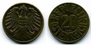 20 Грош Оккупированная Австрия (1945-1955) Бронза/Алюминий