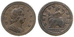 1/2 Penny Kingdom of Great Britain (1707-1801) Copper George I (1660-1727)