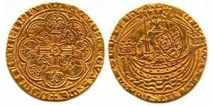 1/2 Noble Королевство Англия (927-1649,1660-1707) Золото Эдуард III (1312-1377)