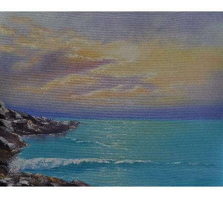 Ocean and sky - oil painting