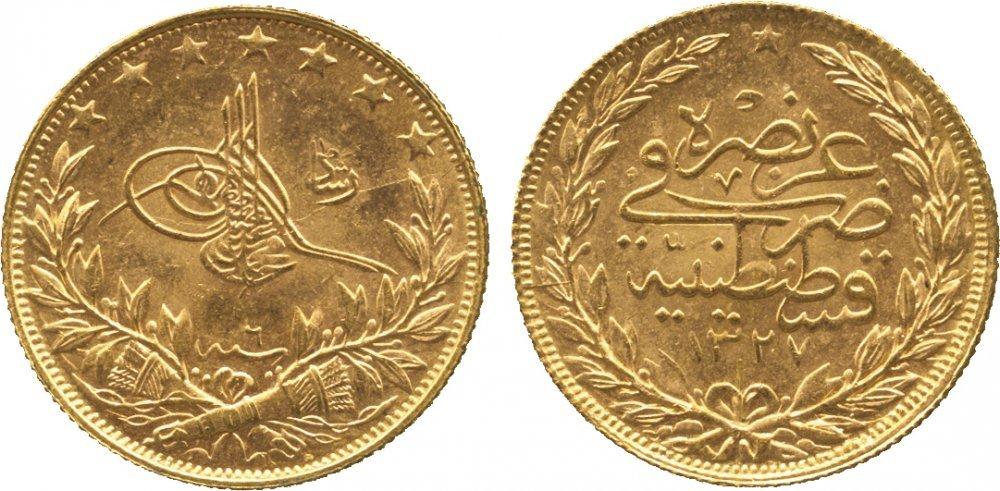 100 Kurush 1915 Ottoman Empire 1299 1923 Gold Prices