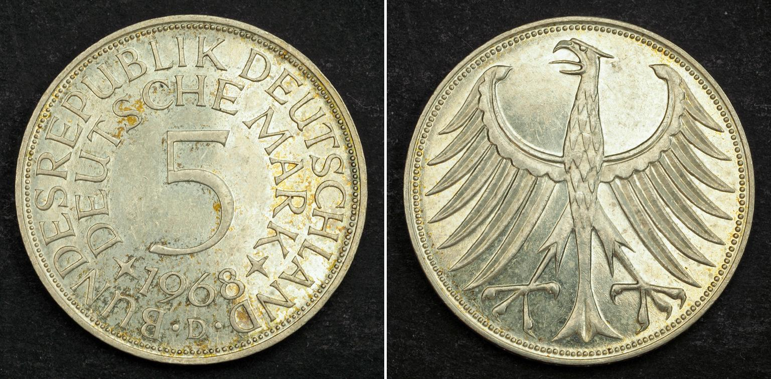 1974 West Germany (1949-1990) Silver