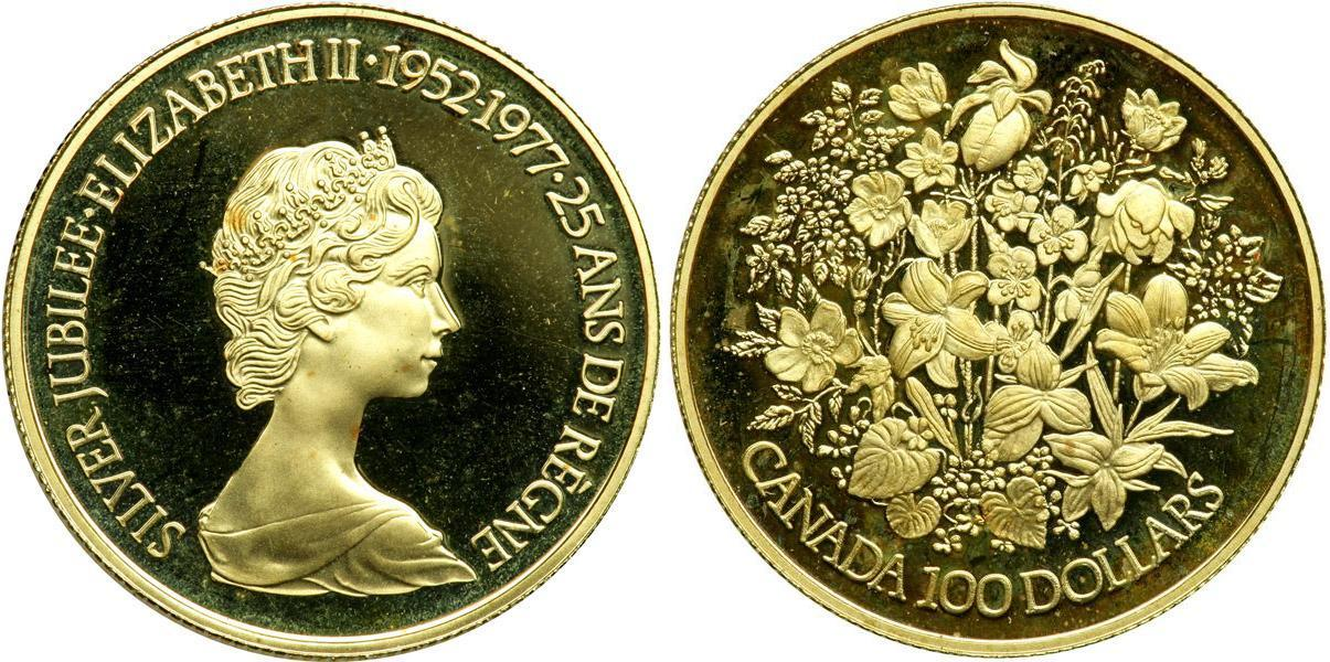 100 Dollar 1977 Canada Gold Elizabeth Ii 1926 Prices